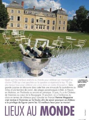 Femme mag Liban_mariage_wedding_Chateau de Varennes_2_Bourgogne